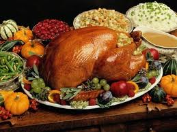 Cooked Thanksgiving Turkey with Vegetables